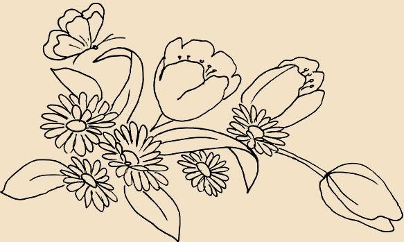 Схемы вышивки цветов