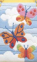 Вышивка гладью бабочек. Схемы вышивки