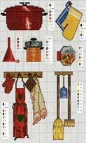 Вышивка крестом для кухни