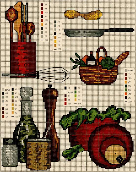 Вышивка крестом для кухни без регистрации