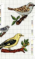 Вышивка крестом. Схемы вышивки птиц