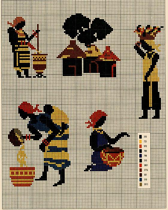 Схемы Узоров Вышивки Для Вышиванок Крестом