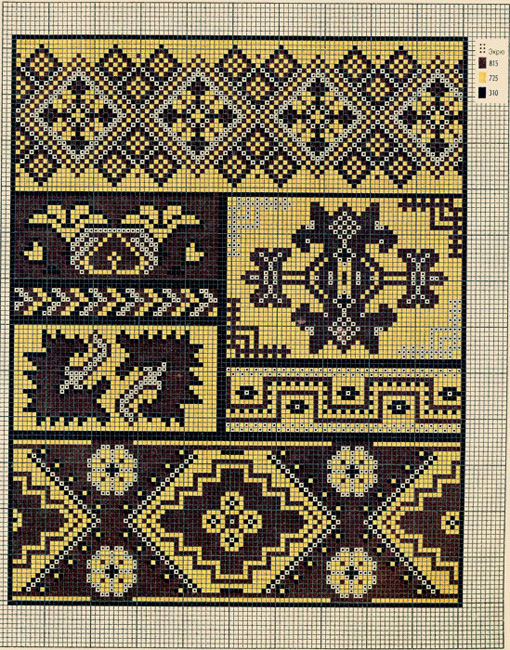 схема вышивки часы-подсолнух