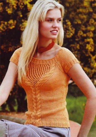 Вязание желтого пуловера