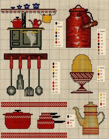 """Букеты цветов.Схема вышивки.   """"Часть 1 - 500 узоров для вышивки крестиком Часть 2. Темы: кухня, цветы, овощи, фрукты."""