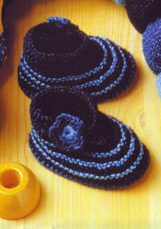 Вязание малышам, пинетки