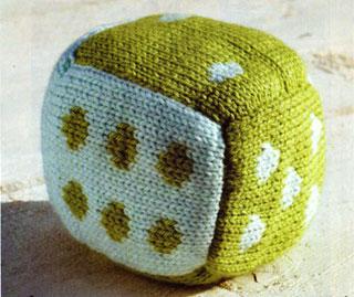 Вязание игрушек, кубик
