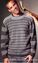 вязание спицами пуловера