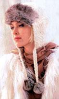 Вязание спицами шапки - ушанки