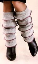 вязаные гетры, гетры спицами