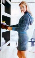 Вязание костюма. Курточка и юбка.