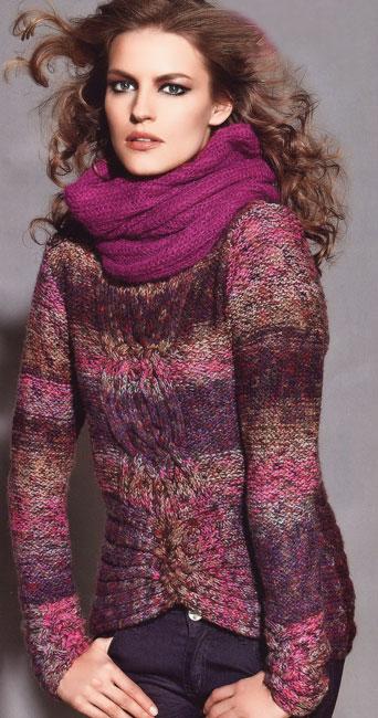 Красивые вязаные пальто и свитера в