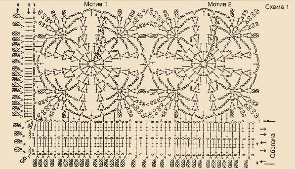 Схема вязания белого жакета крючком