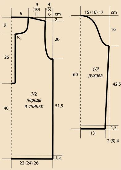 вязание крючком красная ажурная туника - Мода