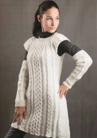 вязаное летнее платье спицами описание, вязание крючком
