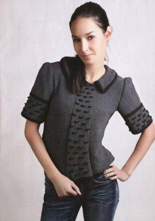 Черно-серый пуловер