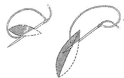 плоская наклонная нить