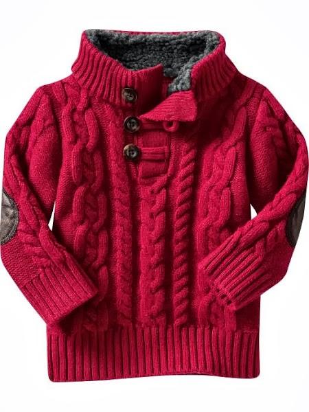 Детский свитерок с аранами