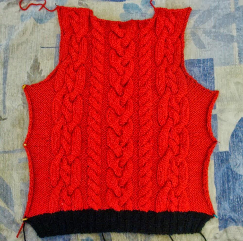 спинка детского свитера