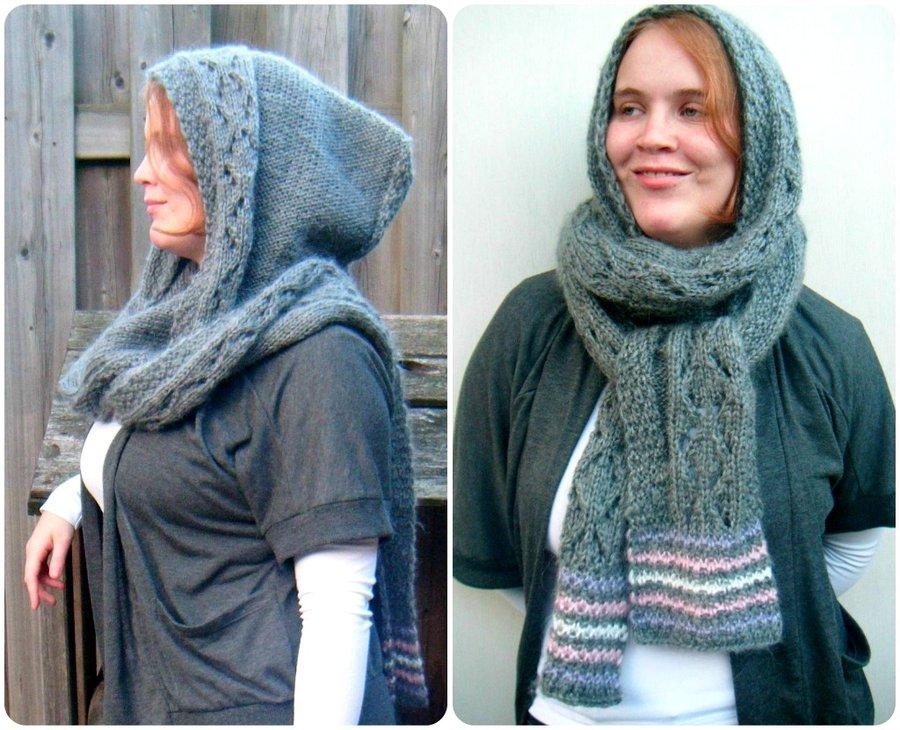 Вязаный шарф-хомут. Вязаные