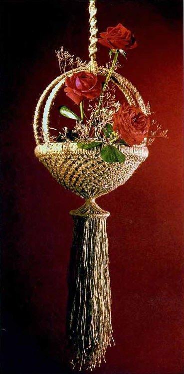 Кашпо для цветов плести