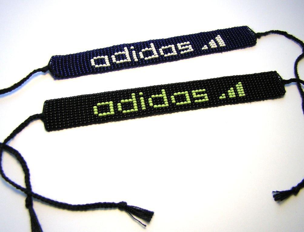 "фенечка из бисера ""Adidas"""