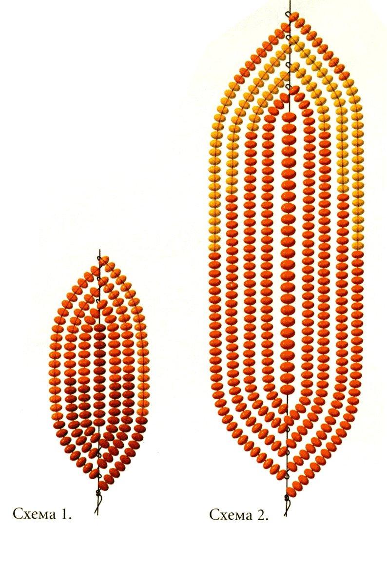 Цветы из бисера гербера схемы плетения