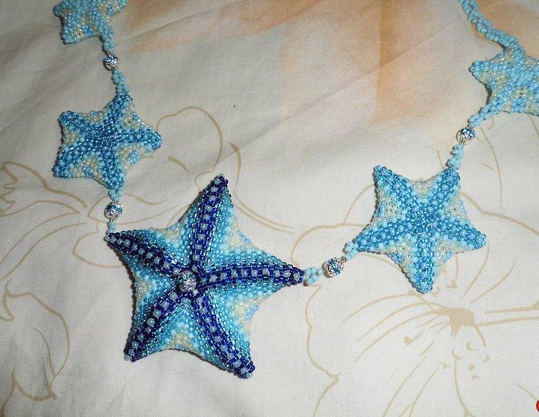колье-звезды морской тематики