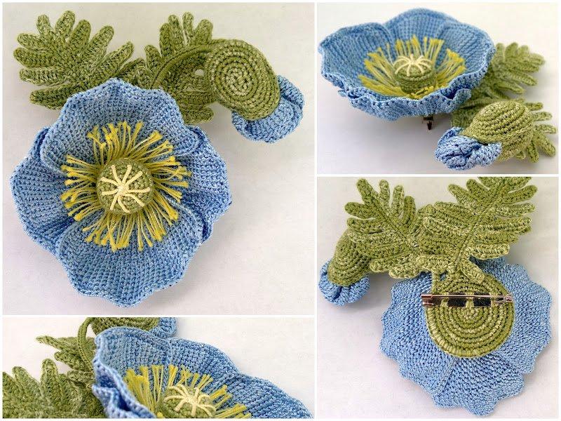 Декор для одежды - оригинальные цветы