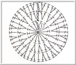 схема вязания рисунок микки мауса