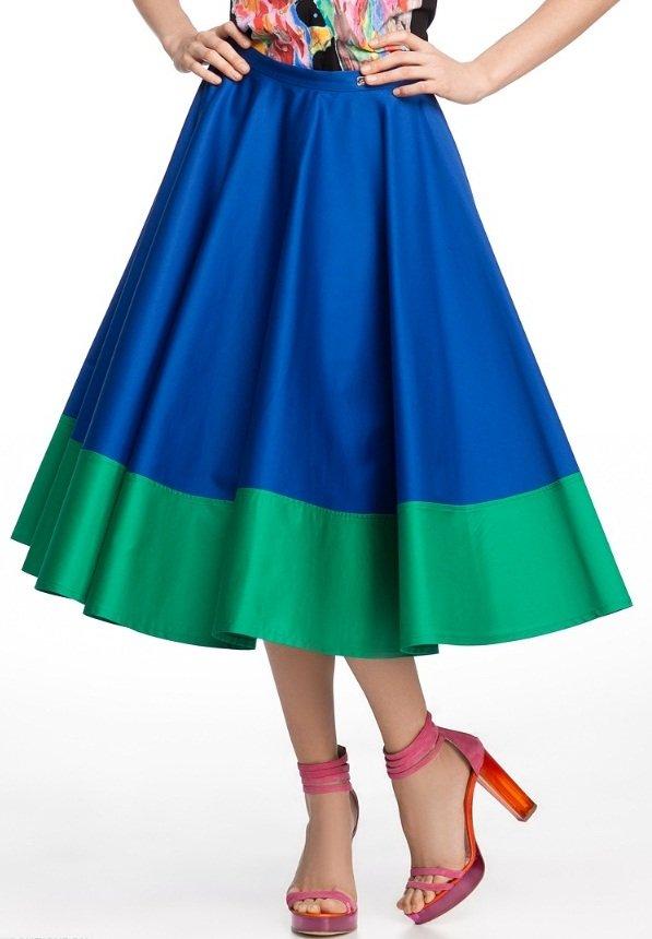 Юбка полусолнце – отличная деталь для стильного гардероба