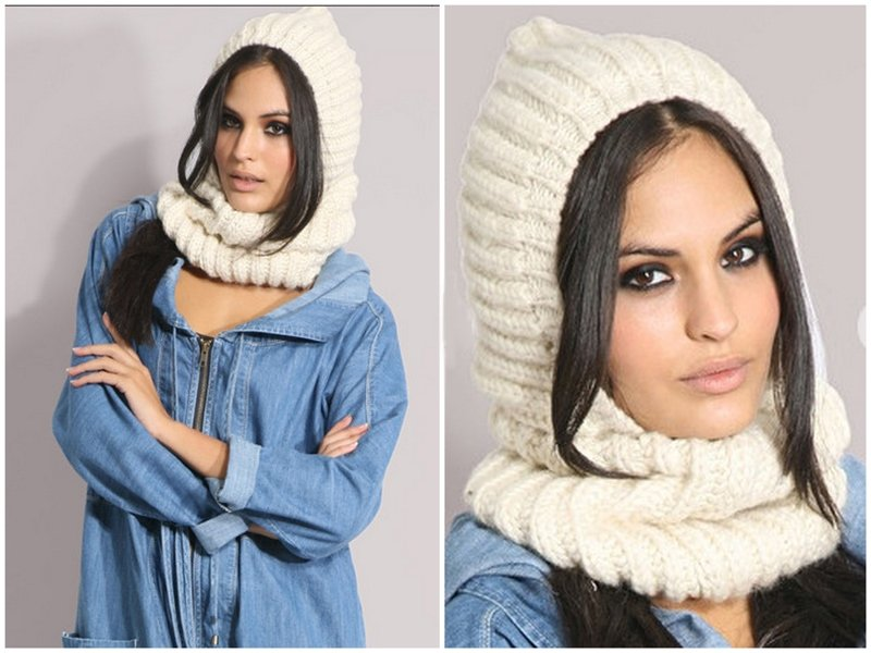 Вязаные шапки и шарфы – стильный акцент для образа