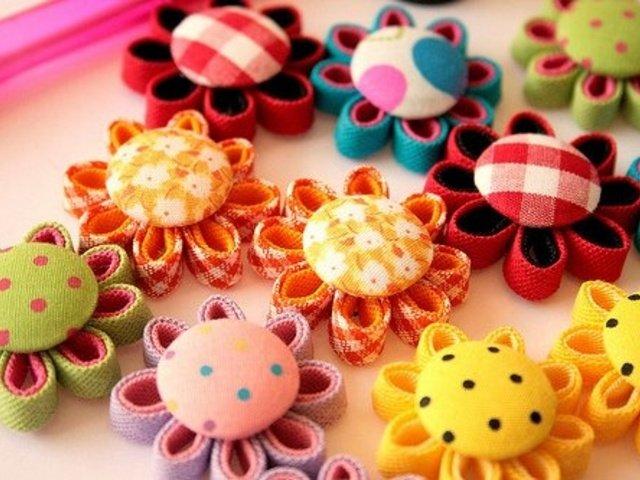 Цветы из ткани сделанные собственными руками