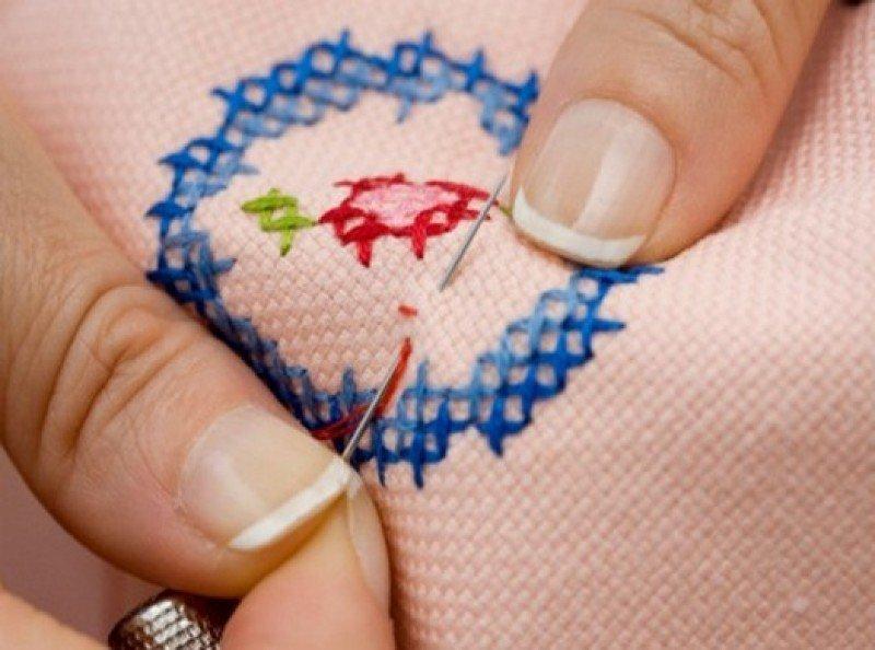 вышивание узора крестиком
