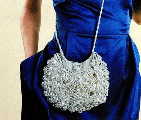 Изысканная летняя ажурная сумочка связанная крючком