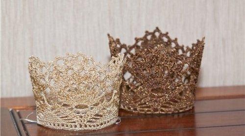 Корона для принцессы крючком