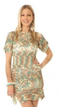 ажурное меланжевое платье