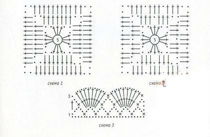 схемы вязания наволочек