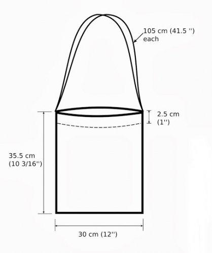 Дизайнерская сумка из мотивов-цветов крючком - размеры