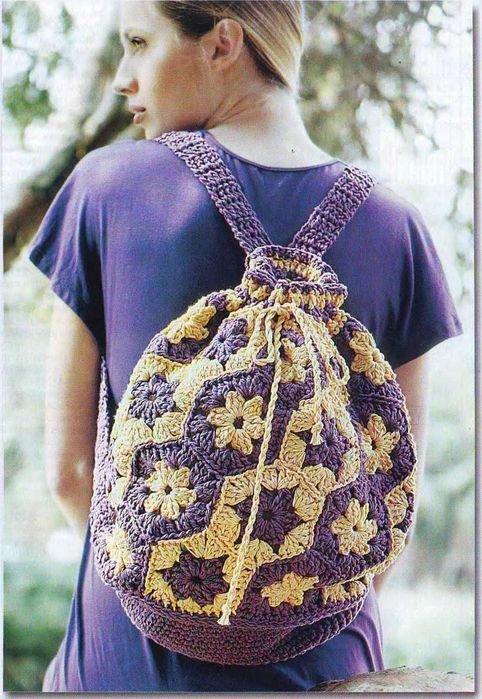 Удобный и практичный рюкзак крючком