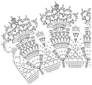 Схема вязания ажурного воротничка