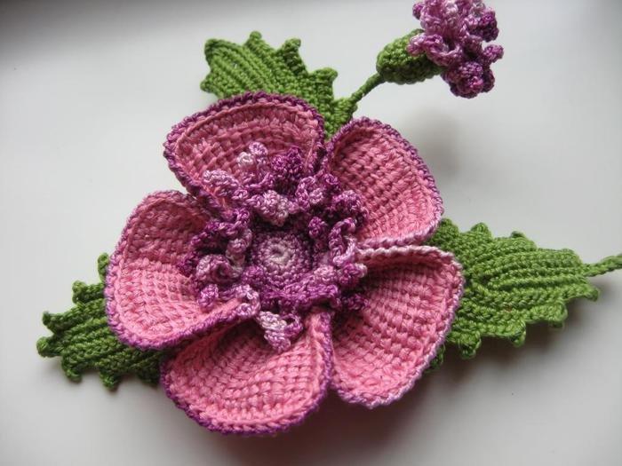 Цветок и листики