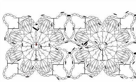 Схема вязания детской жилеточки из пышных цветов