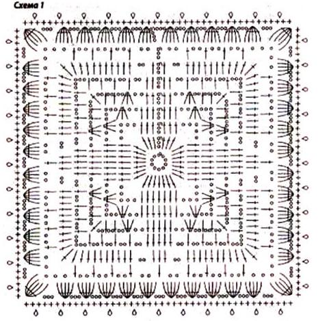 Схема вязания детского комплекта из шапочки и пальто