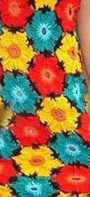 Детское платьице из мотивов крючком, готовое изделие