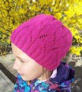 Осенняя ажурная шапочка