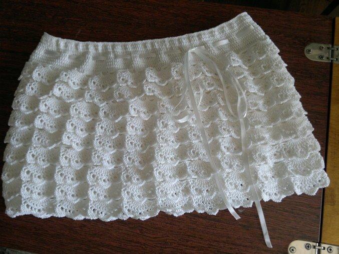 Ажурная юбка с рюшами крючком