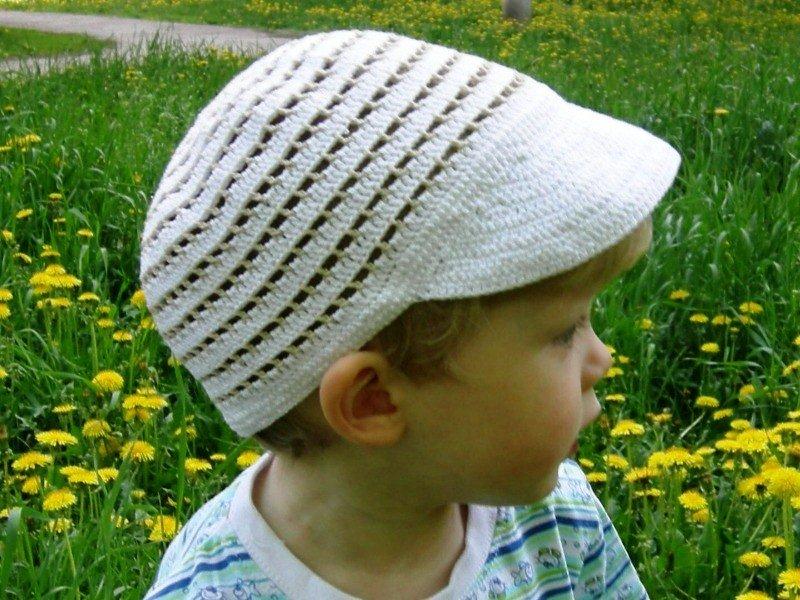 Летняя кепка для мальчика крючком