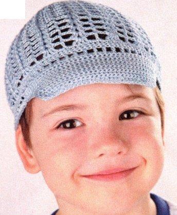 Летняя шапочка для мальчика крючком
