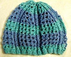 Летняя ажурная шапочка для девочки спицами